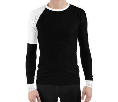 Black & White Men's Rash Guard
