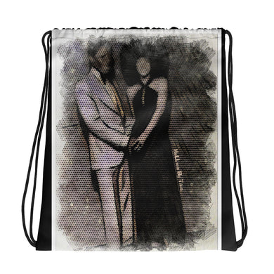 Black Love Drawstring bag (Black)
