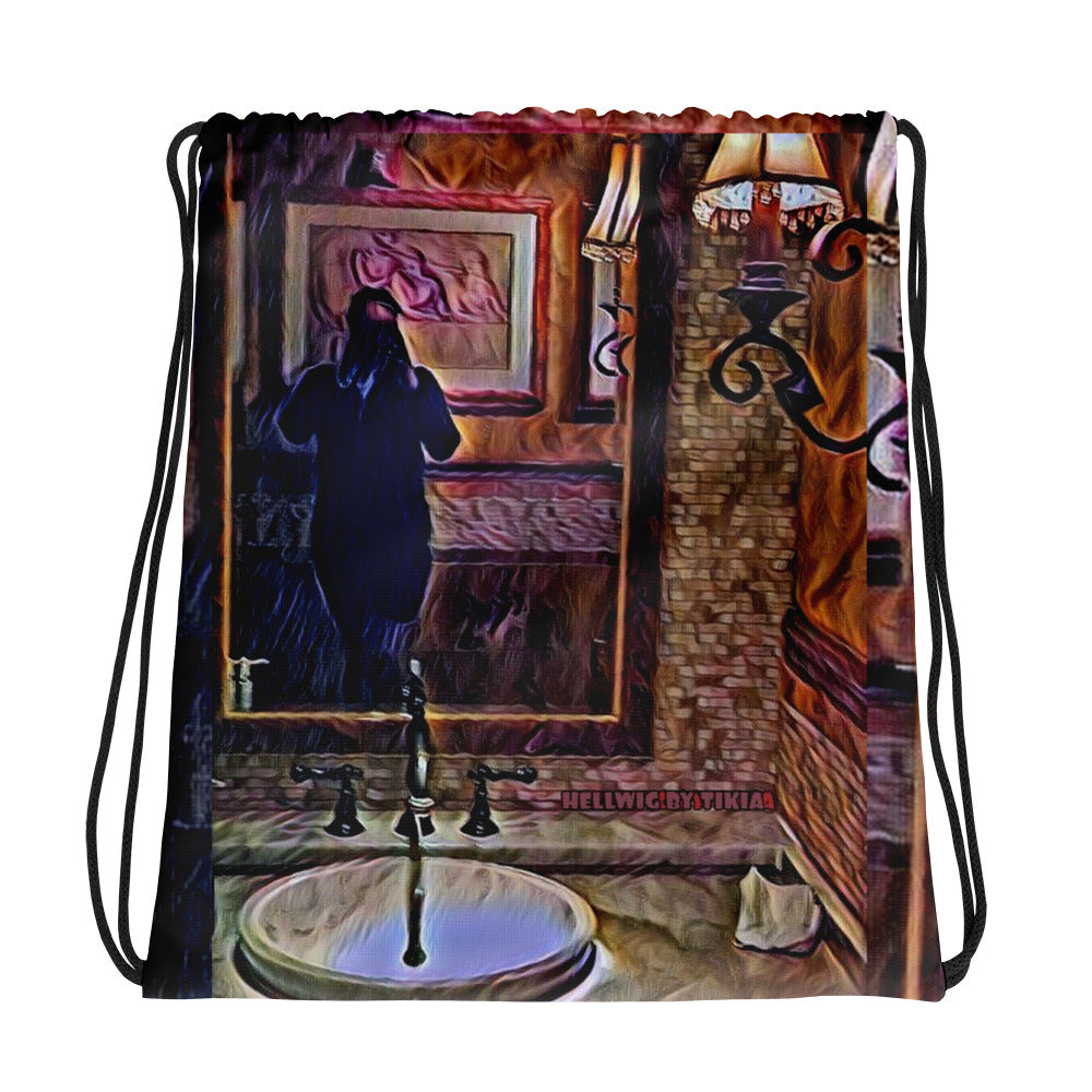 Selfie Love Drawstring bag