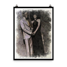 Load image into Gallery viewer, Black Love Paper Poster (Black)