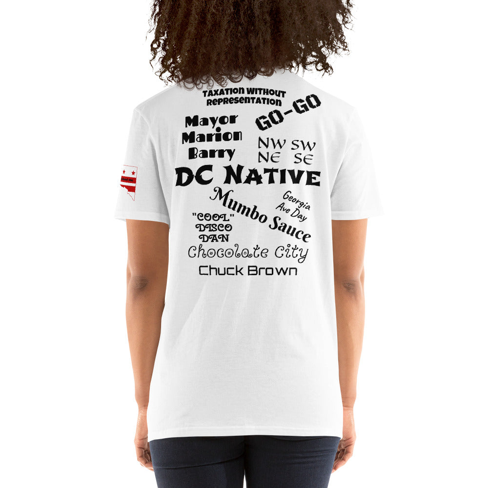 D.C. Raised Me Economy Unisex T-Shirt (flag on sleeve)