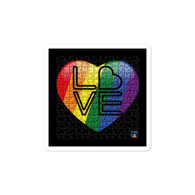 Rainbow Pride Bubble-free stickers