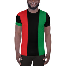 Load image into Gallery viewer, RBG Pan-african Men's Athletic T-shirt