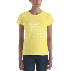 Not a victim Women's t-shirt