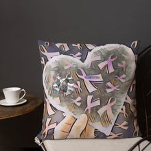 Load image into Gallery viewer, Cancer Ribbons Love & Support Premium Pillow