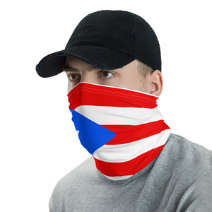 Puerto Rican flag neck gaiter ( face mask )