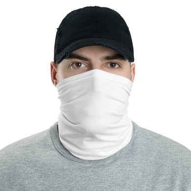 H By T white  neck gaiter