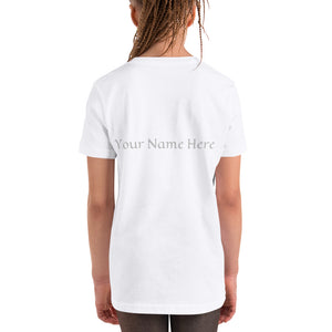 Customizable Kids Unisex T-Shirt (Front pic, Back text)