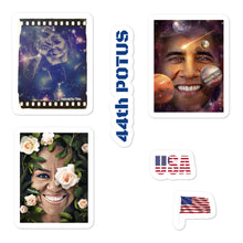 Load image into Gallery viewer, Barack and Michelle Obama Art Stickers
