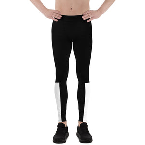 Black & White Men's yoga sports Leggings