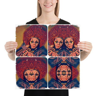 Clown Morph  Photo paper poster