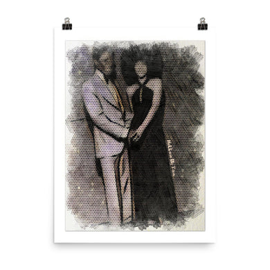 Black Love paper poster (White)