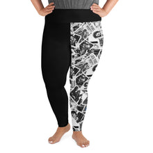 Load image into Gallery viewer, Power to the People Women's Plus Leggings (black)