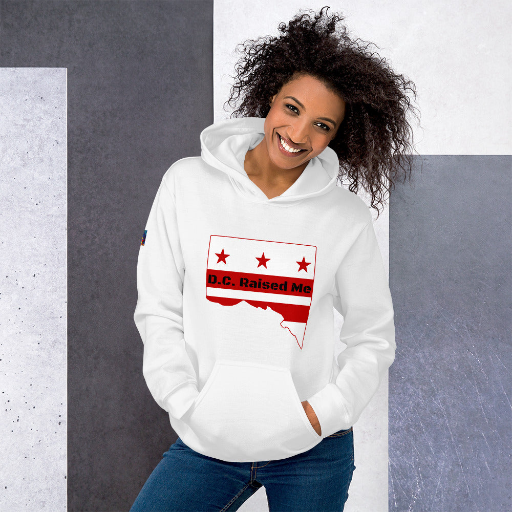 D.C. Raised Me Unisex Hoodie (flag on front)
