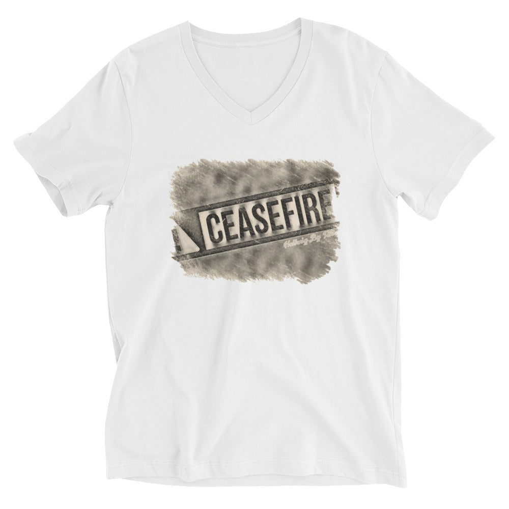 Customizable Unisex V-Neck T-Shirt (Front)