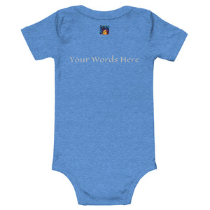 Customizable Baby T-Shirt (Front pic, Back text)