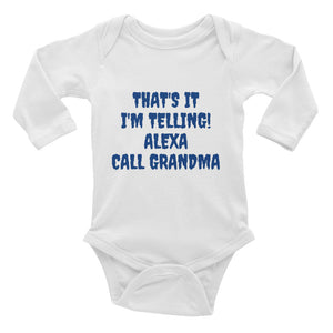 Call Grandma Infant Long Sleeve Bodysuit