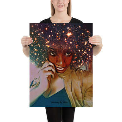 Cosmic Crown Photo paper poster