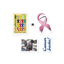 Load image into Gallery viewer, Cancer Sucks Bubble-free stickers