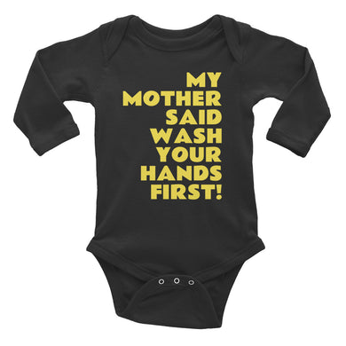 Wash your hands Long Sleeve baby Bodysuit