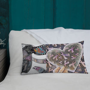 Cancer Ribbons Love & Support Premium Pillow