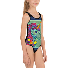 Load image into Gallery viewer, Emerald Unicorn Magic Kids Swimsuit