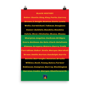 Black History paper poster