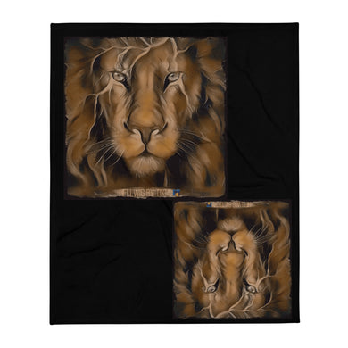 King Lion Throw Blanket