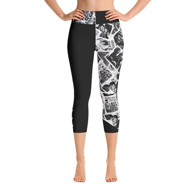 Power to the People Yoga Capri Leggings (black)