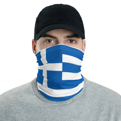 Greek flag neck gaiter