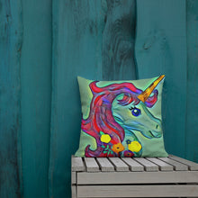 Load image into Gallery viewer, Square Unicorn Magic Premium Pillow