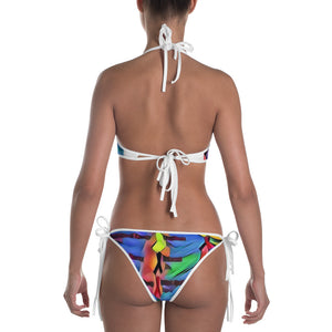 Cancer Ribbon Reversible Bikini