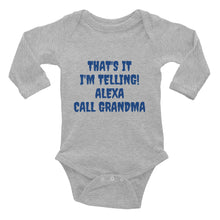 Load image into Gallery viewer, Call Grandma Infant Long Sleeve Bodysuit