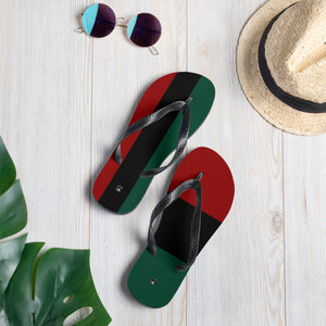 Mixed Match RBG Pan-African Flip-Flops