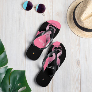 Breast Cancer Ribbon Flip-Flops