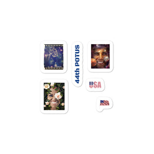 Barack and Michelle Obama Art Stickers