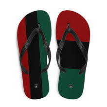 Load image into Gallery viewer, Mixed Match RBG Pan-African Flip-Flops