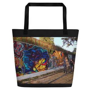 Hellwig Signature Graffiti Beach Bag