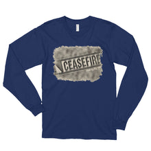 Load image into Gallery viewer, Ceasefire long sleeve unisex t-shirt