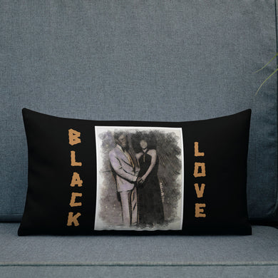 Black Love Premium Pillow (Black)