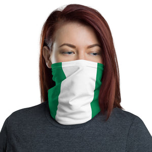 Nigerian flag neck gaiter