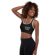 Load image into Gallery viewer, Black Lives Matter Padded Sports Bra