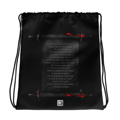 Time is Prescious Drawstring bag