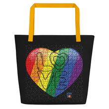 Load image into Gallery viewer, Rainbow Pride Beach Bag