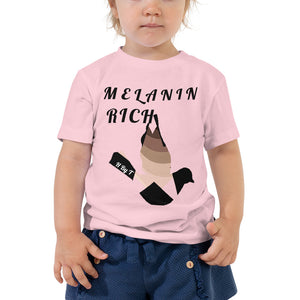 Melanin Rich Toddler t-shirt