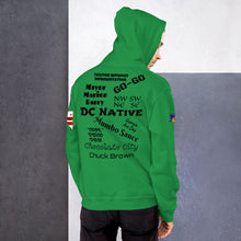 Load image into Gallery viewer, D.C. Raised Me Unisex Hoodie (flag on sleeve)