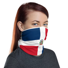 Load image into Gallery viewer, Dominican flag neck gaiter ( face mask )