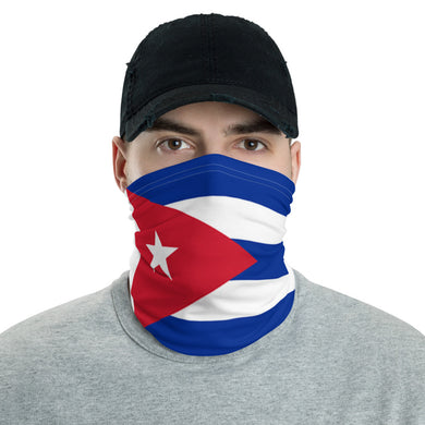Cuban flag neck gaiter
