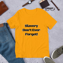 Load image into Gallery viewer, Slavery Don't Ever Forget Unisex T-Shirt