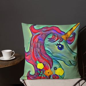 Square Unicorn Magic Premium Pillow